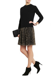 ALICE by Temperley Donna lamé rosette-appliquéd tulle mini skirt