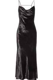 Jason Wu Crushed-velvet slip dress