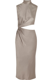 Cutout satin dress