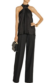 Jason Wu Velvet and satin-trimmed wool-blend tuxedo pants