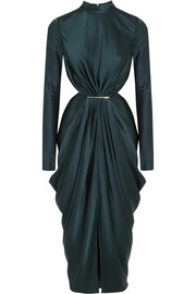 Jason Wu Cutout draped satin dress