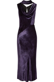 Jason Wu Draped cutout velvet gown