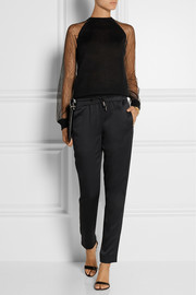 Jason Wu Lace-paneled cashmere and silk-blend sweater