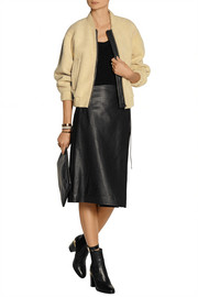 Reed Krakoff Leather wrap skirt