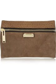 Burberry Shoes & Accessories Textured-leather and suede clutch