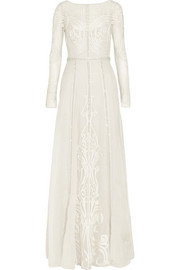 Temperley London Crivelli embroidered tulle and silk-organza gown
