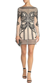 Temperley London Crivelli embellished embroidered tulle mini dress