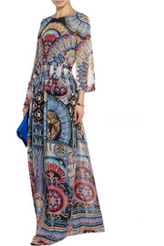 Temperley London Merida printed silk-georgette maxi dress