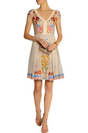 Temperley London Toledo embroidered silk-blend dress