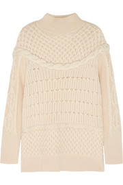 Temperley London Magdalena cable-knit merino wool sweater