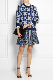Temperley London Lia jacquard-knit merino wool and cashmere-blend sweater