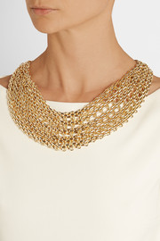 Kenneth Jay Lane Gold-plated multi-chain necklace