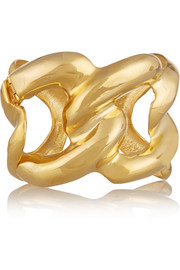 Gold-plated chain-link cuff