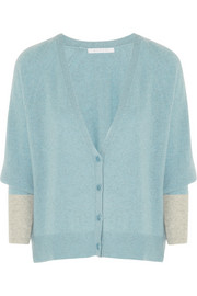 Duffy Batwing two-tone cashmere cardigan