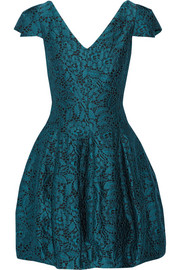 Halston Heritage Lace-jacquard mini dress