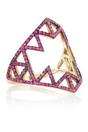 Lito Izel 14-karat gold ruby ring