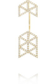 Lito Izel 14-karat gold diamond earring