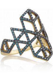 Lito Izel 14-karat gold diamond ring