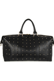 Eddie Harrop The Voyager studded textured-leather weekend bag