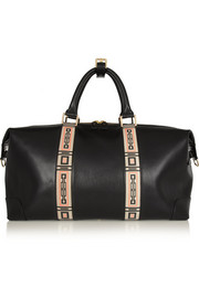 Eddie Harrop The Voyager printed leather weekend bag