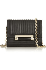Diane von Furstenberg Micro Mini quilted leather shoulder bag