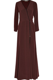Dagmar Deborah wrap-front silk-crepe maxi dress