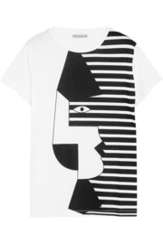 Dagmar Face printed cotton-jersey T-shirt