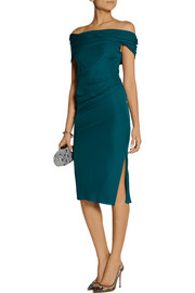 Cushnie et Ochs Off-the-shoulder silk dress