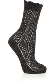 Falke Metallic pointelle-knit socks