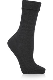 Falke Striggings cable-knit ankle sock