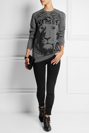 Versus Printed cotton-blend jersey sweatshirt