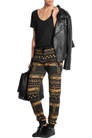 Versus Printed cotton-jersey track pants