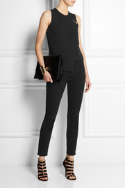 Versus Safety pin-embellished crepe wrap top