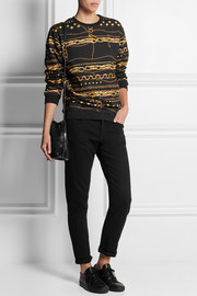 Versus Printed cotton-jersey sweatshirt