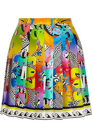 Versus Printed silk mini skirt