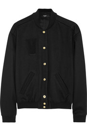 Versus Appliquéd wool-blend felt bomber jacket