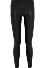 I Am Shiny paneled stretch-jersey leggings