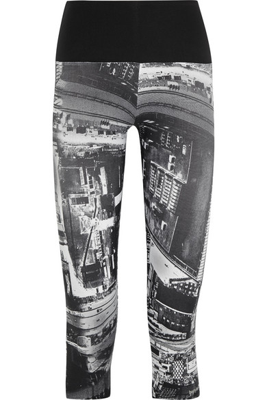 Sale alerts for Bodyism I Am Curious printed stretch-jersey capri leggings - Covvet