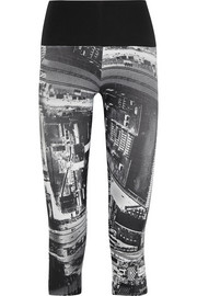 I Am Curious printed stretch-jersey capri leggings