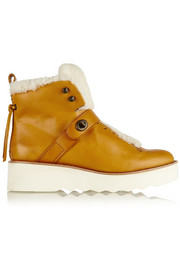 Urban Hiker shearling-trimmed leather boots