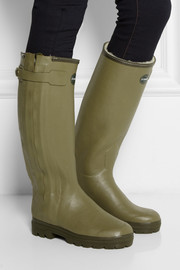 Le Chameau Chasseur shearling-lined rubber rain boots