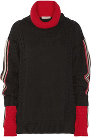 Preen Line Agnes two-tone knitted turtleneck sweater
