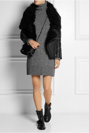 Preen Line Dudley shearling-trimmed quilted leather jacket