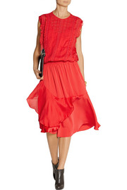 Preen Line Mercer embroidered satin and chiffon dress