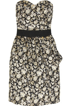 LuellaCorseted jacquard mini dress