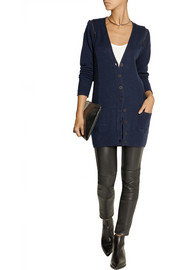 Karl Lagerfeld Kimie zip-detailed wool and cashmere-blend cardigan