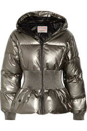 Hunter Original Outer Space metallic coated cotton down jacket