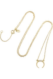 Tusk 18-karat gold diamond necklace