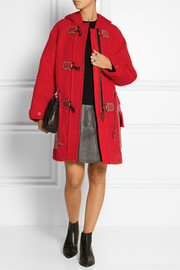 Coach Hooded textured-felt duffle coat