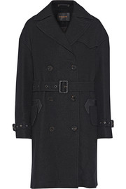 Coach Double-breasted wool-blend trench coat